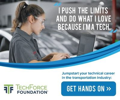 The TechForce Foundation has a multitude of materials the industry can use to promote careers as professional technicians. -