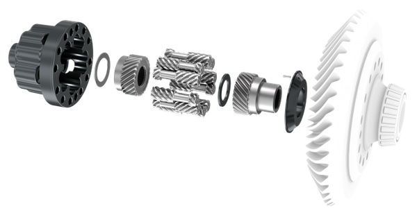This close-up diagram shows the Spice Trac-Lok limited-slip differential for truck applications...