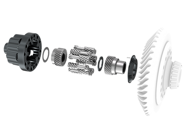 This close-up diagram shows the Spice Trac-Lok limited-slip differential for truckapplications from Dana. - Dana Corp.
