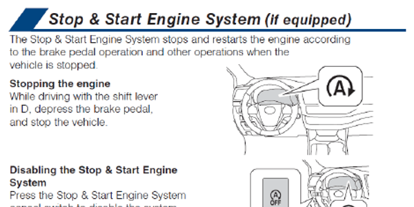 In order to disable the Stop & Start engine system, press the Stop & Start cancel switch.