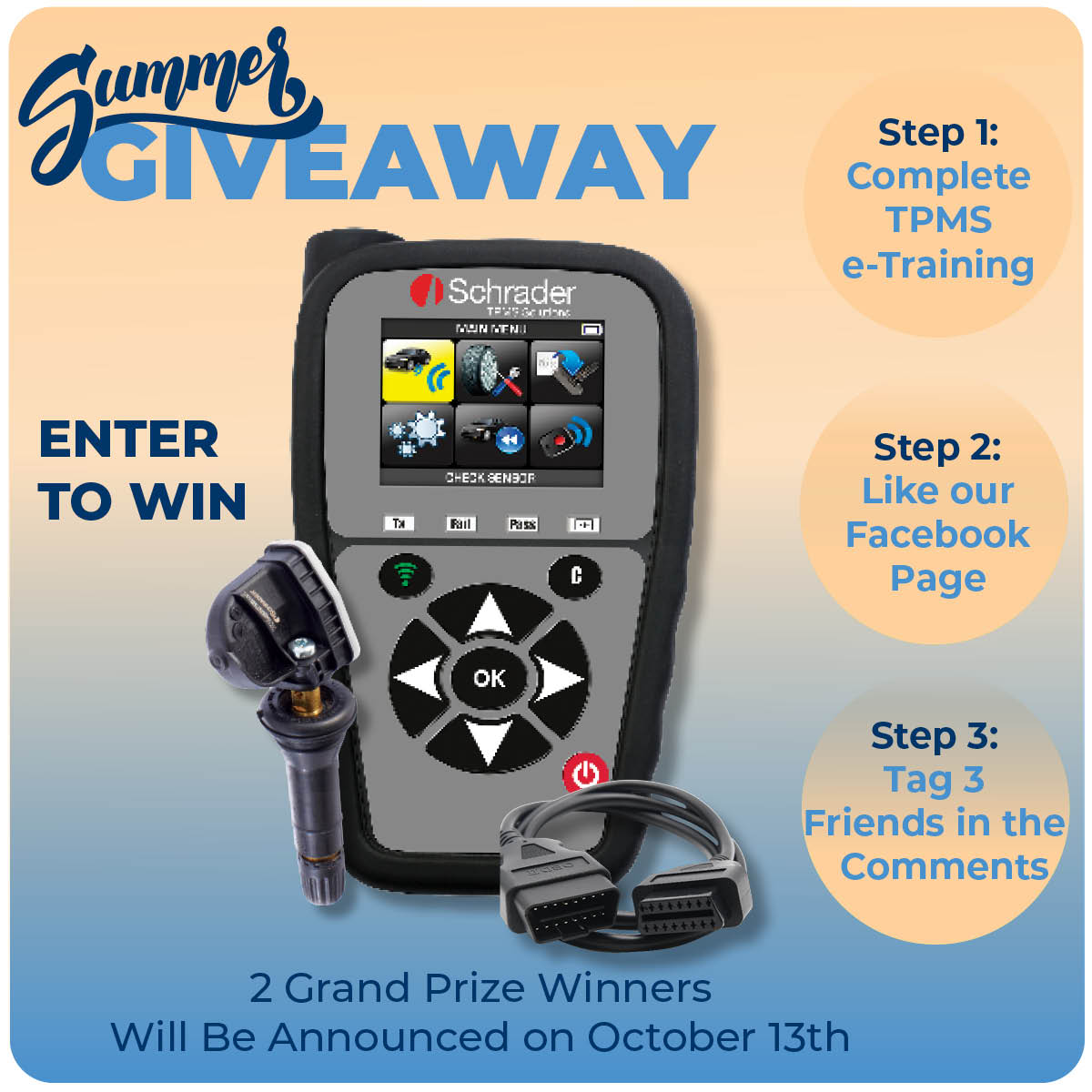 Schrader Launches 'Summer Giveaway' Contest