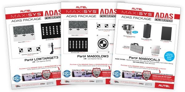 Autel US has released three calibration expansion packages for its Advanced Driver Assistance...