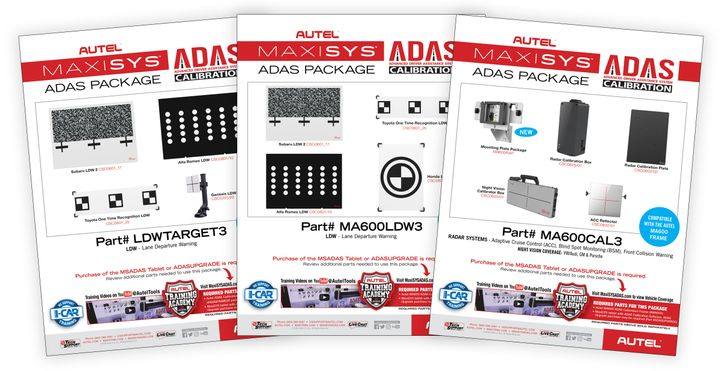 Autel US has released three calibration expansion packages for its Advanced Driver Assistance System (ADAS) calibration frame systems. -