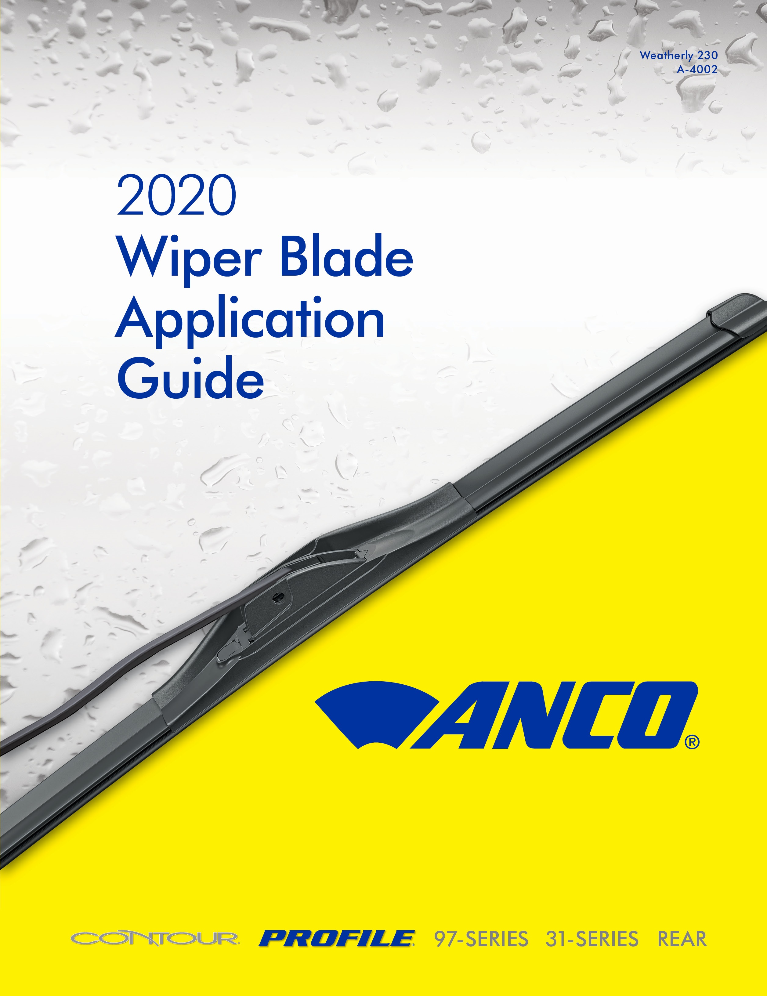 Trico Releases Anco Wiper Blade Application Guide