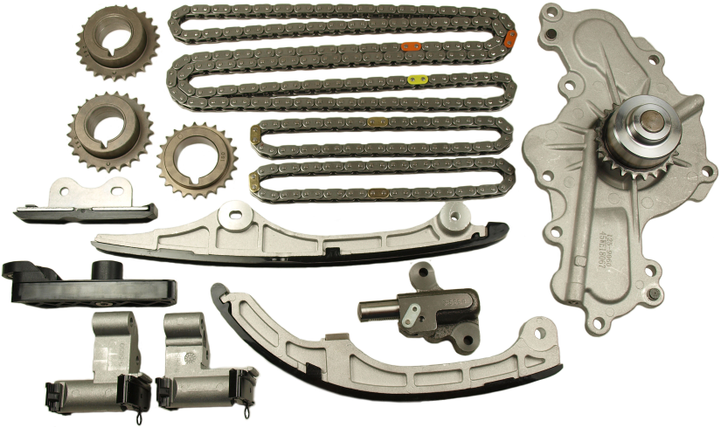 Cloyes' new kits are designed for the replacement of worn or damaged timing chains, tensioners, sprockets, guides, and/or water pumps. -