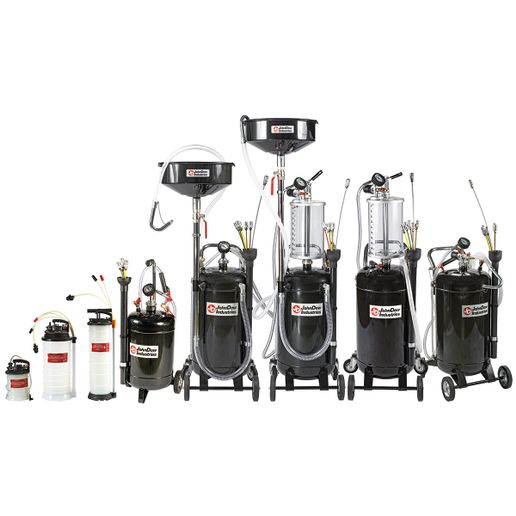 The extractors include 5 feet of flexible hosing and rigid dip-stick tubes for engine oil removal. - JohnDow Industries