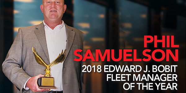 Phil Samuelson accepted the Edward J. Bobit Professional Fleet Manager of the Year Award. Sherb...