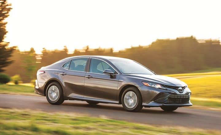The Hybrid Toyota Camry is powered by a 2.5L Dynamic Force 4-Cylinder DOHC 16-Valve D-4S Dual Injection, it includes an ECO, normal, sport, and EV drive modes. The Hybrid Toyota Camry is growing in momentum with fleet customers focusing on sustainability initiatives. - Photo courtesy of Toyota.