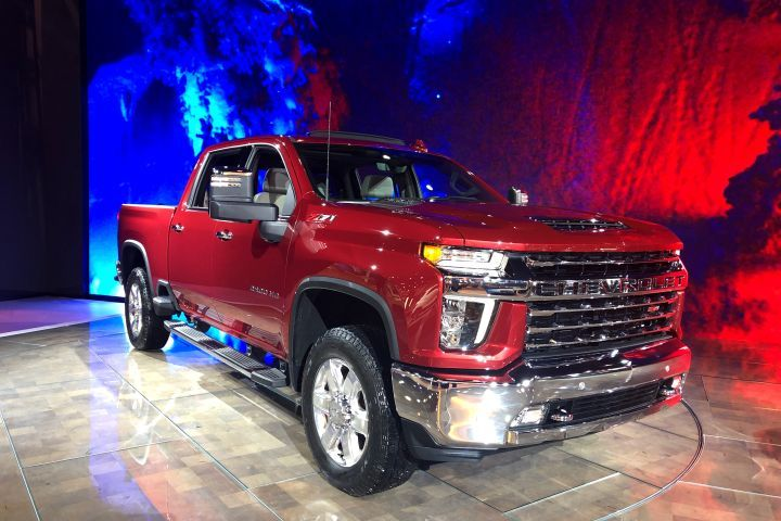 Chevrolet's 2020 2500HD (shown) and 3500HD pickups were unveiled ahead of the Chicago Auto Show at their Flint, Mich., factory.