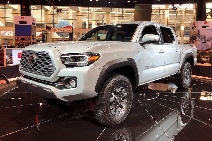 Toyota's Tacoma midsize pickup adds an upgraded infotainment system across all grades.