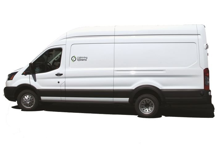 The retail price for Lightning Systems' 60-mile electric Ford Transit powertrain option is about $79,000 while the 120-mile option will cost about $99,000.With an average $40,000 price for a Ford Transit, this puts the all-in cost of the electrified van at about $120,000 for the 60-mile option and $140,000 for the 120-mile option. - Photo by Eric Gandarilla.