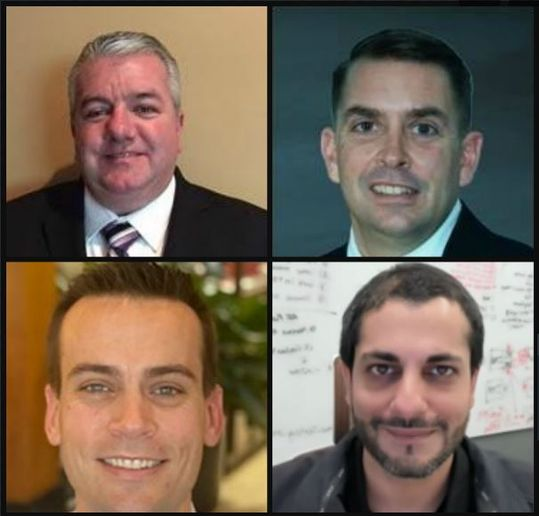Fleet Executive of the Year nominees clockwise from top left: Charlie Stevenson, Keven Kelleher, Yogi Shivdasani, and David Reyes -
