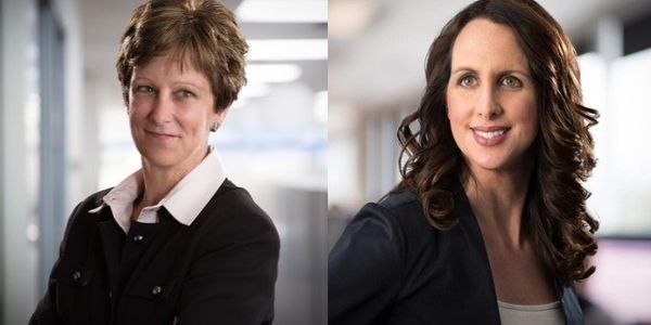 Sharon Etherington (left) and Katie Franssen (right) of Roche Diagnostics were recognized for...