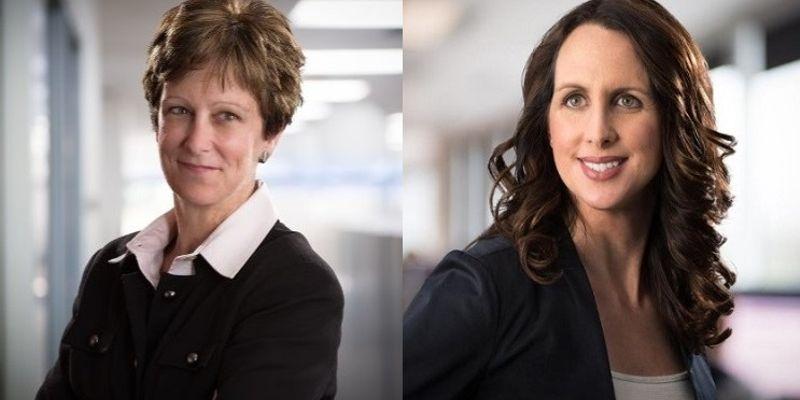 Sharon Etherington (left) and Katie Franssen (right) of Roche Diagnostics were recognized for...