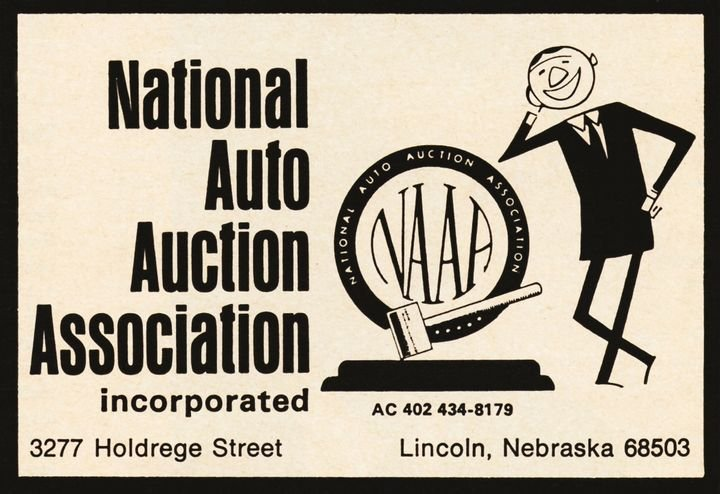 National Auto Auction Protective Association reorganizes and changes its name to theNational Auto Auction Association (NAAA). -
