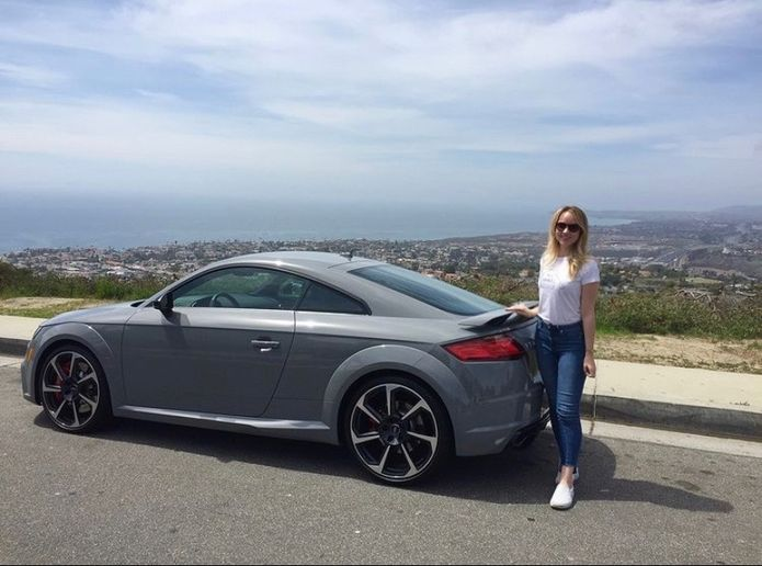 <p>One of Monique Pruitt's favorite Audi models is the TT RS, shown here in Nardo Gray. She also drove a TT RS during a company event at the Circuit of The Americas (COTA) in Austin, Texas.</p>[|CREDIT|]