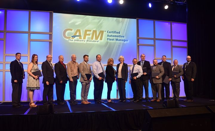 The closing luncheon at NAFA I&E 2019 began with a graduation ceremony honoring the most recent recipients of the CAFM certification program.
