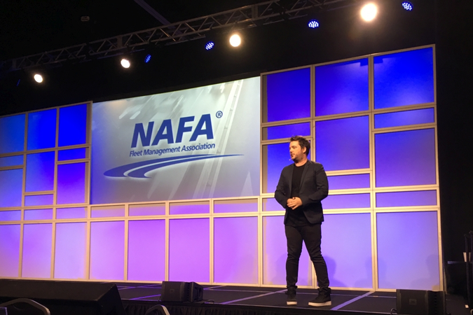 NAFA I&E 2019 featured a keynote presentation luncheon by Chris Riddell, digital futurist...