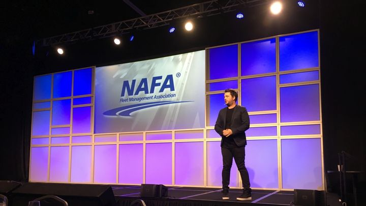 Later there wasa welcome keynote presentation luncheon byChris Riddell, digital futurist keynote speaker, who discussed how current and future technologies are impacting fleet, which included: the sharing economy, blockchain, augmented intelligence, and the Internet of Things.  - Photo by Andy Lundin.