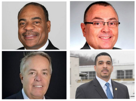 Clockwise from top left:Carlton Rose, UPS, President, Global Fleet Maintenance &Engineering;Mike Lisi, EncovaInsurance, VP, Corporate Services and Real Estate;Kenneth Jack, VerizonCommunications, Fleet Operations; and Jeff Hitzke, LabCorp, VP.