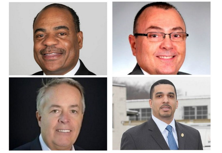 Clockwise from top left: Carlton Rose, UPS, President, Global Fleet Maintenance & Engineering; Mike Lisi, Encova Insurance, VP, Corporate Services and Real Estate; Kenneth Jack, Verizon Communications, Fleet Operations; and Jeff Hitzke, LabCorp, VP.
