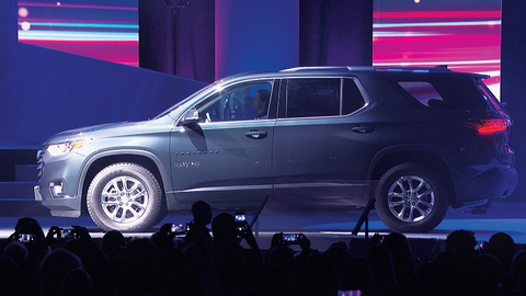 The Chevrolet Traverse 1LT will be available in a midnight black metallic color as part of Mary...