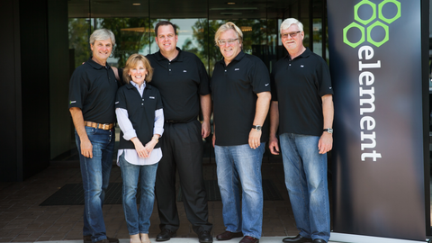 Celebrating the first day as part of Element at the Eden Prairie, Minn. campus were (L-R) Brad...