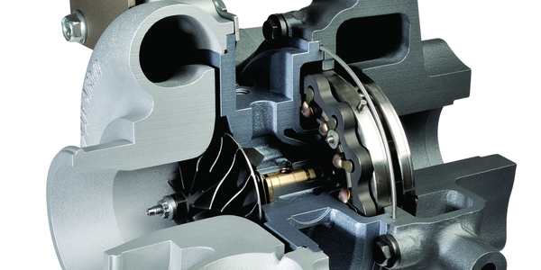 A 2011 Honeywell VNT DutyDrive Turbo UD Trucks 4.7L Diesel.