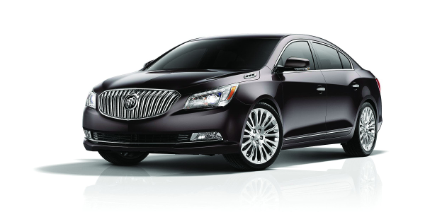 The 2014 Buick LaCrosse was redesigned with a waterfall grille, chrome accents, and LED...