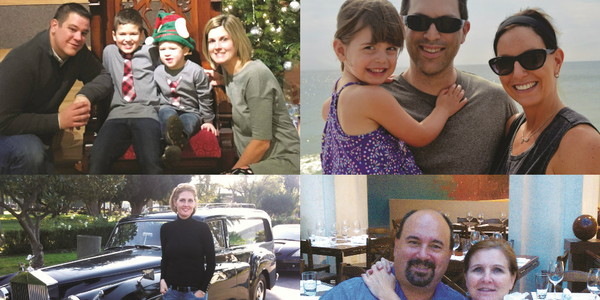 Clockwise from top left: Brian Wielgosz of Sanofi with his family; Dave Tosh of Benco Dental...