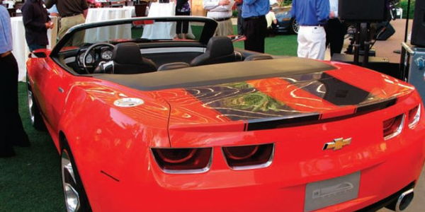 The GM Commercial Sounding Board got a sneak peek at the 2010 Chevrolet Camaro convertible at...
