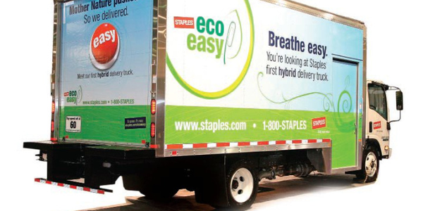 The Staples 2,200-unit fleet includes Isuzu N-Series and FTR; International MaxxForce 255 4300;...