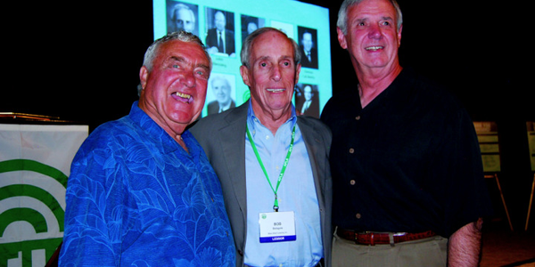 Present at the Fleet Hall of Fame induction ceremony were three 2009 inductees, (l-r) Ed Bobit,...