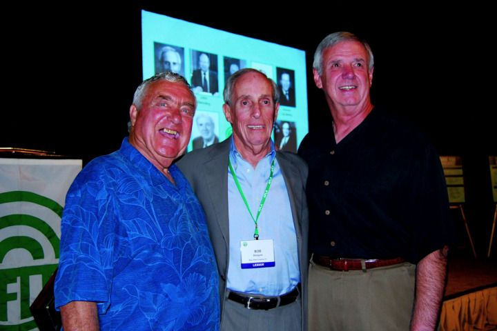 Present at the Fleet Hall of Fame induction ceremony were three 2009 inductees, (l-r) Ed Bobit, Bobit Business Media; Bob Betagole, Mike Albert Vehicle Fleet Management; & Jim Rallo, retired from PHH. -