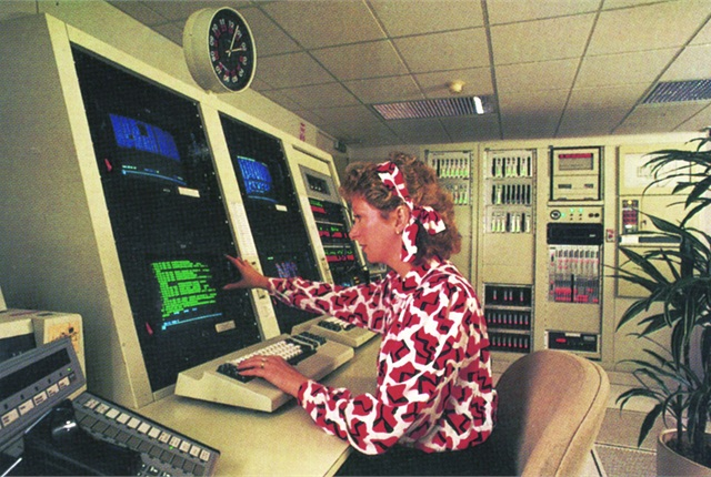 This photo, circa 1992, is of a lessor's mainframe-based fleet management system that provided access, either online or offline, to a fleet client's vehicle data.