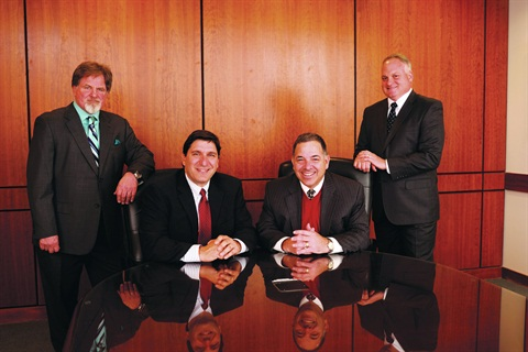 The Merchants leadership team includes (l-r) Dennis Cavagnaro, director of marketing; Jack Firriolo, chief operation officer; Glen Villano, chief executive officer; and Tom Coffey, vice president of sales and marketing.