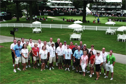 During its recent Product Showcase and Networking Event, Fleet Response hosted a networking event at the16th hole of Akron, Ohio's Firestone Country Club where attendees were able to witness Adam Scott en route to winning the Bridgestone invitational.
