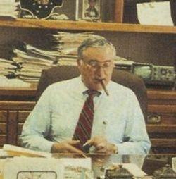 Ed Bobit at his desk, 1990