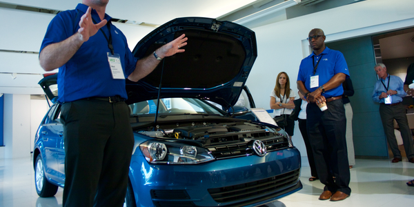 A walkaround product demonstration was given to fleet attendees of the all-new 2017 Golf...