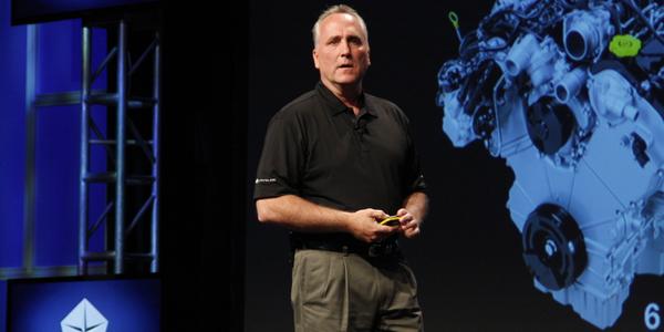 Pete Grady, vice president - network development & fleet for Chrysler Group, focused on the...