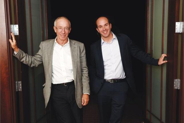 Jim Frank and Dan Frank celebrate the 75th anniversary of Wheels Inc.