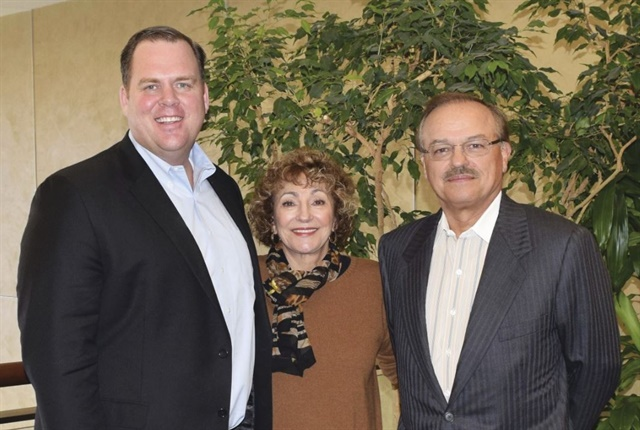 President and CEO of The CEI Group Wayne Smolda (right), Claudia Smolda (center), and the rest of CEI's management team will remain with CEI as part of the acquisition. Wayne Smolda will report to Jim Halliday (left), president and CEO of Element Fleet Management International.