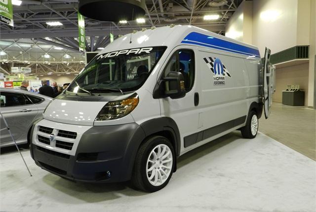 Chrysler's MOPAR division upfit a Ram ProMaster van. Photo by Lauren Fletcher.