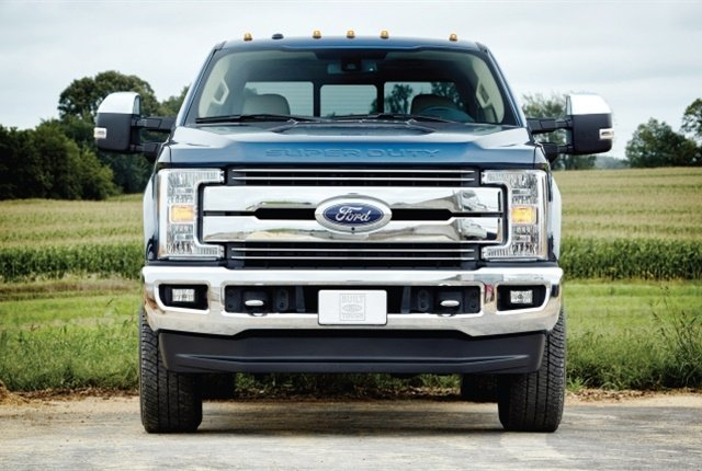 The all-new 2017 Ford F-250 Lariat Crew Cab 4x4 single-rear-wheel pickup is the most popular model in the Super Duty lineup. It offers a combination of conventional, gooseneck and fifth-wheel towing capability. (Photo courtesy of Ford Motor Co.)