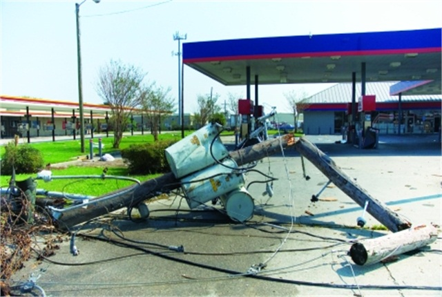 The widespread destruction caused by Hurricane Katrina made it difficult for fleets to get back to business.