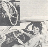 General Motors cars for 1963 feature an optional steering column that can be adjusted to seven different positions.