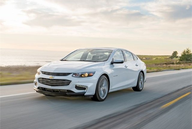 Photo of the Chevrolet Malibu courtesy of General Motors.