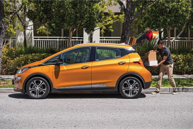 The Chevrolet Bolt has proven popular among Maven Gig drivers in California, logging a total of more than 2.3 million miles over more than 130,000 rides. Photo courtesy of GM.