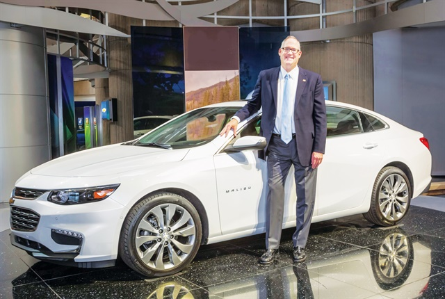 Photo of Ed Peper by a 2016 Chevrolet Malibu courtesy of General Motors.