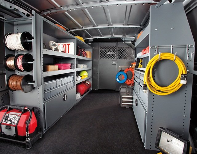 Enhancing product visibilty helps technicians more readily keep track of inventory. Keeping a van organized based on repetition of duties increases efficency.